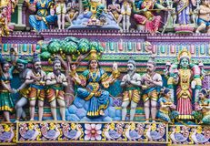 Sri Veeramakaliamman temple. SINGAPORE - FEB 24 : Statues in Sri Veeramakaliamman temple in Little India, Singapore on February 24 2018 It is one of the oldest Stock Photos