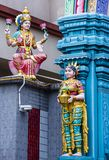 Sri Veeramakaliamman temple. SINGAPORE - FEB 24 : Statues in Sri Veeramakaliamman temple in Little India, Singapore on February 24 2018 It is one of the oldest Royalty Free Stock Photo