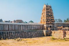 Sri Virupaksha temple at Hampi, India. Sri Virupaksha temple in Hampi, India stock images