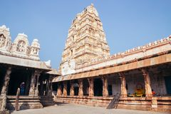 Sri Virupaksha temple at Hampi, India. Sri Virupaksha temple in Hampi, India stock photos