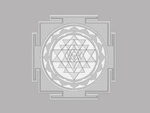 Sri Yantra Stockbild
