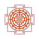 Sri Yantra illustration stock