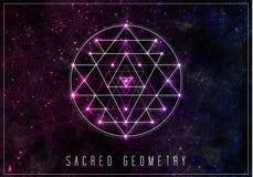 Sri Yantra Elemento sacro di progettazione di vettore della geometria Immagine Stock