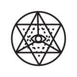 Sri yantra icon vector sign and symbol isolated on white background, Sri yantra logo concept vector illustration