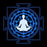 Sri Yantra meditation Fotografering för Bildbyråer