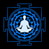 Sri Yantra Meditation Stock Image