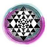 Sri Yantra vector symbol. Sri Yantra sacred symbol, vector illustration for your design Stock Photography