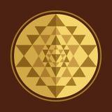 Sri Yantra vector symbol Stock Images