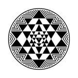 Sri Yantra vector symbol Royalty Free Stock Photos