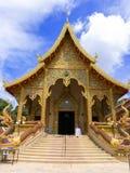 Sriboonruang tempel, Chiang Rai, Thailand Royaltyfria Foton