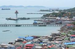 Srichang island a big island on Chonburi Stock Photography