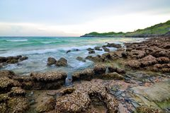 Srichang island. Shoot at the sea side royalty free stock image