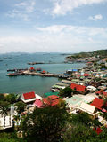 Srichang island, Thailand. Bird eye view of Srichang island, Thailand Stock Photo