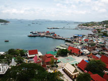 Srichang island, Thailand. Bird eye view of Srichang island, Thailand royalty free stock photos