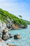 Srichang Island Thailand. In blue sky Stock Photos