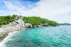 Srichang Island in Thailand. Srichang Island sea andsky in Thailand Royalty Free Stock Images