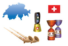 Série 4 de pays - la Suisse Image libre de droits