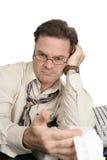 Série da contabilidade - revisor de contas hostil Fotografia de Stock Royalty Free