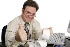 Série da contabilidade - Thumbsup Fotografia de Stock Royalty Free