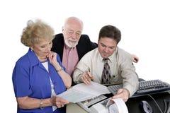 Série de journalisation - aînés et impôts Images stock