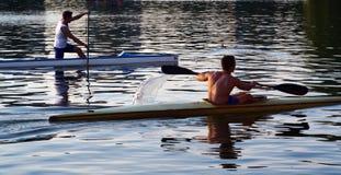 Série de kayak Photos stock