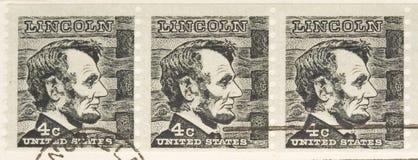 Série de Lincoln d'estampille du cru 1966 Photographie stock
