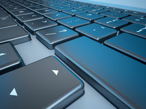 Série do close up do teclado do caderno Fotografia de Stock