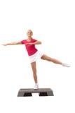 Série do esporte: Ginástica aeróbica da etapa Imagem de Stock Royalty Free