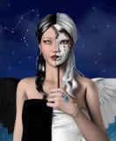 Série do zodíaco - Gêmeos Imagens de Stock