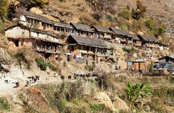 Srikot village, Beautiful village in western Nepal Royalty Free Stock Images