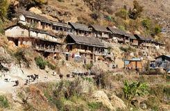 Srikot wioska, Piękna wioska w zachodnim Nepal Obrazy Royalty Free