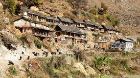 Srikot wioska, Piękna wioska w zachodnim Nepal Obrazy Stock
