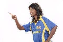 Srilanka cricket girl Stock Images