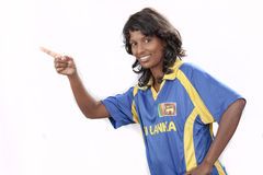 Srilanka cricket girl Stock Photo