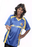 Srilanka cricket girl Stock Photography