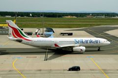 SriLankan Airlines Airbus Royalty Free Stock Photos
