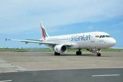 SriLankan Airlines flygbuss A320 Arkivbilder