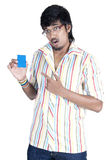 Srilankan Boy On white background Stock Images