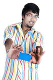 Srilankan Boy On white background Royalty Free Stock Photography