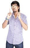 Srilankan Boy On white background Royalty Free Stock Images