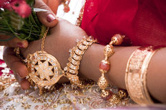 A srilankan bride's hand Stock Photo