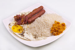 Srilankan Food plate Royalty Free Stock Photo