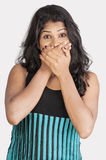 Srilankan giirl on white background Royalty Free Stock Photos