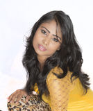 Srilankan girl closeup Royalty Free Stock Photo