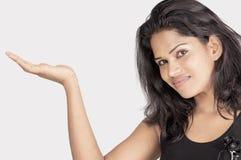 Srilankan girl on white background Stock Image