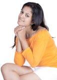 Srilankan Girl On white background Royalty Free Stock Photos
