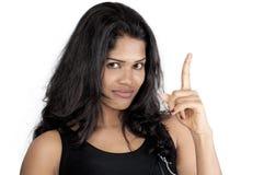Srilankan girl on white background Stock Images