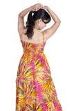 Srilankan girl on white background Stock Photo