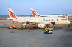 Srilankan linie lotnicze Fotografia Stock