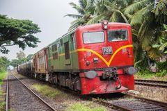 Srilankan old oil train Royalty Free Stock Photo